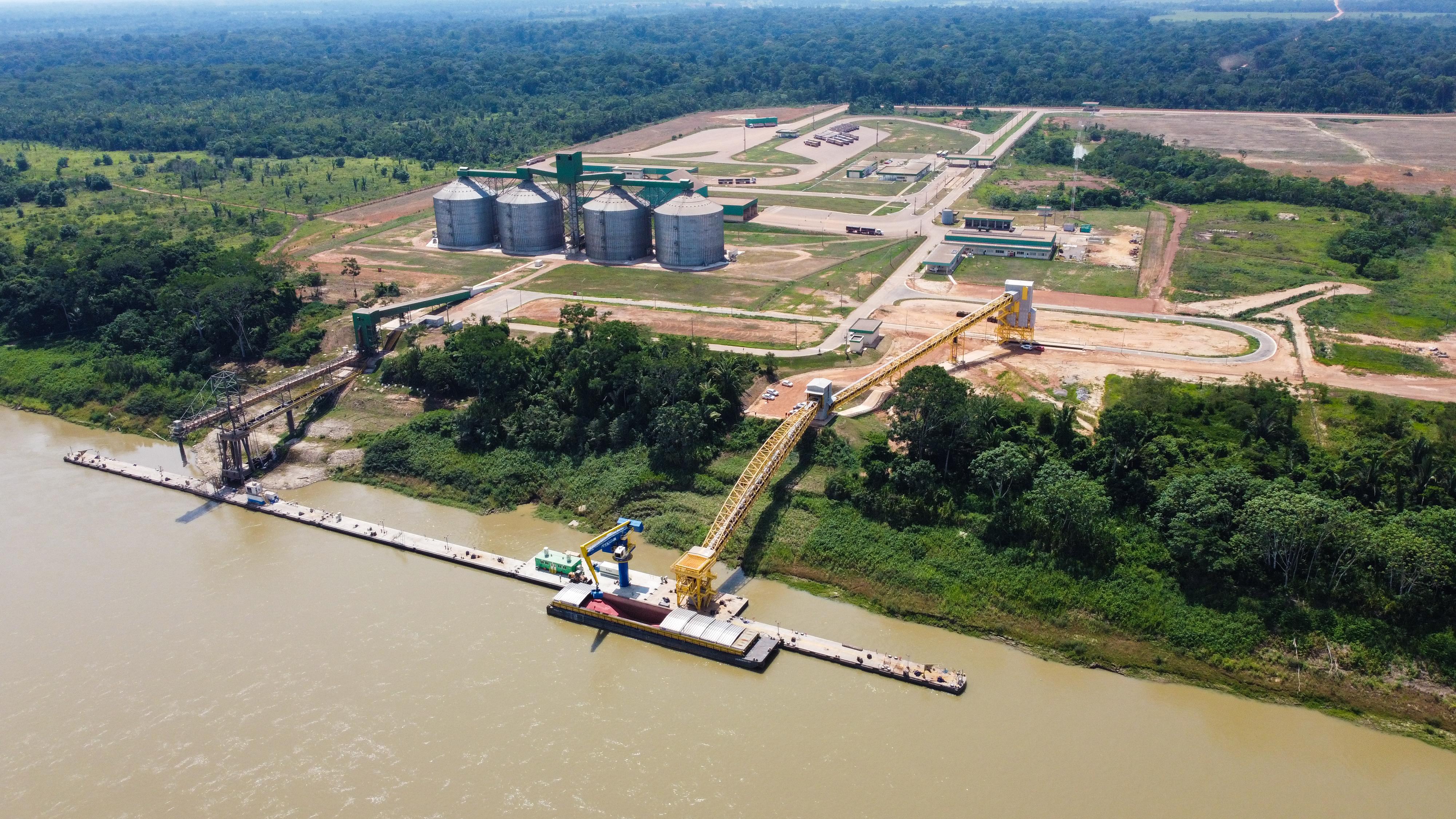 Complexo de Portochuelo, em Porto Velho (RO), onde estão em andamento obras de uma das novas fábricas misturadoras de fertilizantes da AMAGGI.