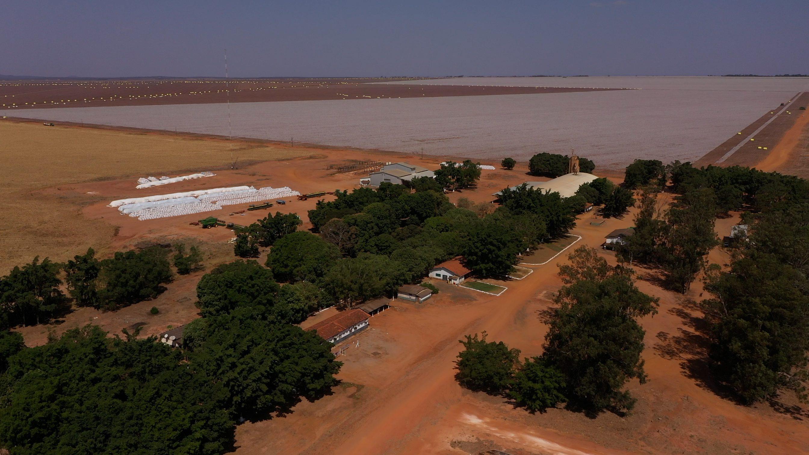 Vista aérea da fazenda Rio Verde, em Campo Novo do Parecis (MT), uma das unidades produtivas recentemente adquiridas conforme o plano de investimentos da AMAGGI para 2021